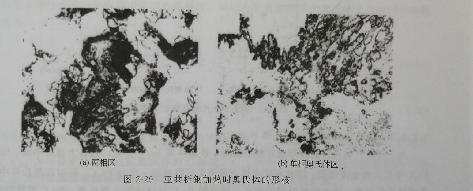 亚共析钢加热时奥氏体的形核